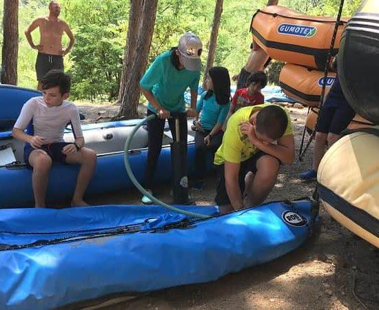 подготовка на каяк лодки