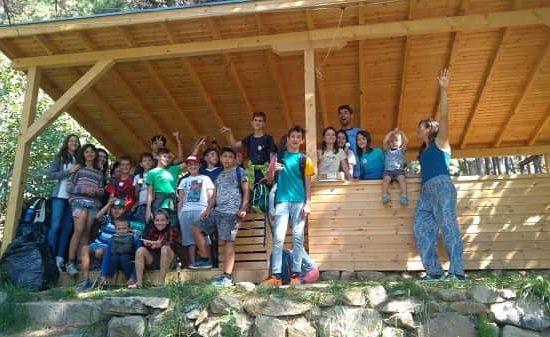 финална снимка от детски лагер