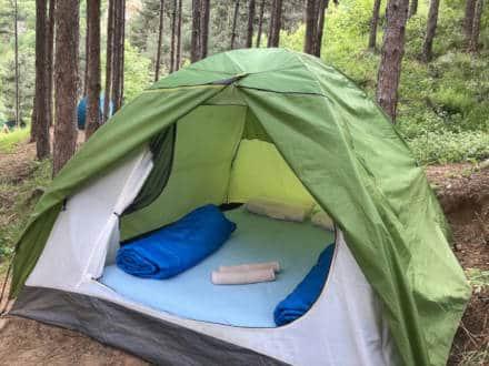 вид и расположение двухместной палатки