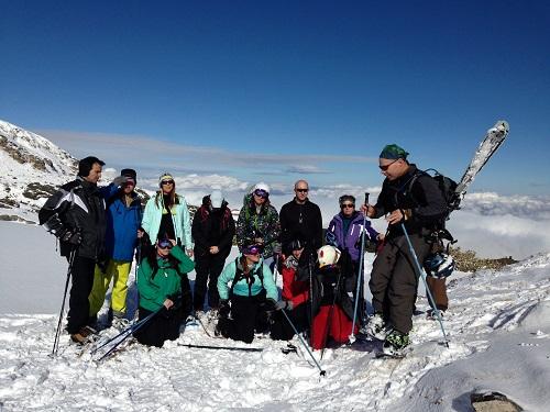 група от зимен тиймбилдинг
